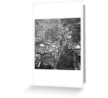 Black And White City Greeting Card
