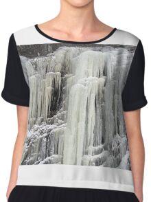 The frozen waterfall Chiffon Top