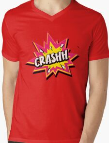 CRASHH Mens V-Neck T-Shirt