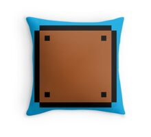 Super Mario Bros. Solid Block Throw Pillow