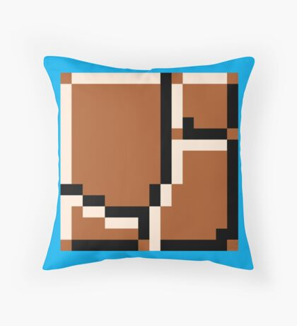 Super Mario Bros. Ground Rocks Throw Pillow