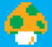Super Mario Bros. Green 1-UP Mushroom by rK9nation