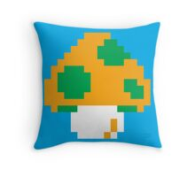 Super Mario Bros. Green 1-UP Mushroom Throw Pillow