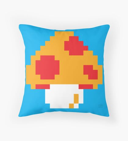 Super Mario Bros. Red Mushroom Throw Pillow