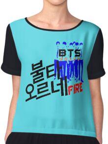 ♥♫Fire BTS-Bangtan Boys K-Pop Clothes & Phone/iPad/Laptop/MackBook Cases/Skins & Bags & Home Decor & Stationary & Mugs♪♥ Chiffon Top