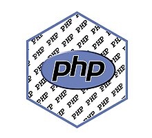 PHP programming language hexagon sticker Photographic Print