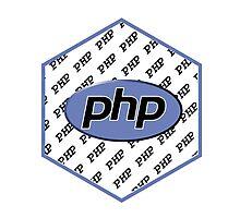 PHP programming language hexagon sticker Photographic Print
