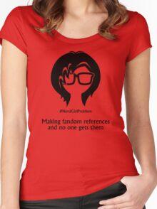 Nerd Girl Problem #5 Women's Fitted Scoop T-Shirt