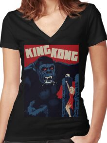 King Kong Classic Women's Fitted V-Neck T-Shirt