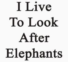 I Live To Look After Elephants  by supernova23