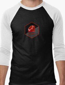 Ruby programming language hexagon sticker Men's Baseball ¾ T-Shirt