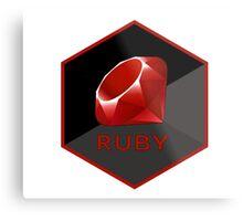 Ruby programming language hexagon sticker Metal Print