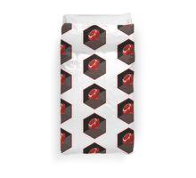 Ruby programming language hexagon sticker Duvet Cover