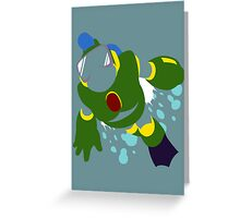 Bubble Man Greeting Card