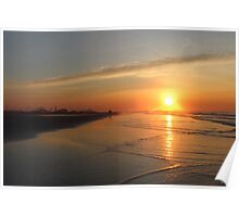 Beach sunrise Poster