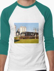 Railroad Crossing Men's Baseball ¾ T-Shirt