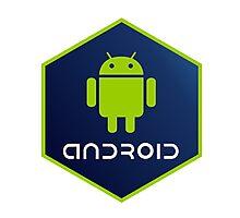 android programming language hexagon sticker Photographic Print
