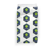 android programming language hexagon sticker Duvet Cover