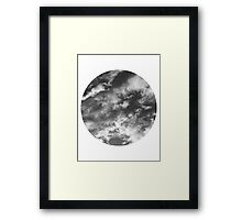 Cloudy Skies 2 black and white Framed Print