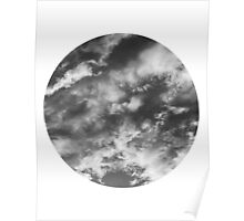 Cloudy Skies 2 black and white Poster