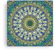 Blue And Green Plush Center Canvas Print
