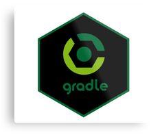 gradle programming language hexagon sticker Metal Print