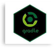 gradle programming language hexagon sticker Canvas Print