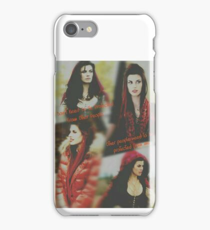 Red, once upon a time iPhone Case/Skin