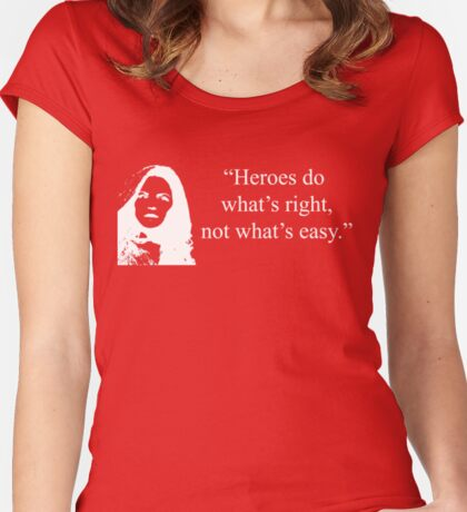 Heroes Do What's Right (in White) Women's Fitted Scoop T-Shirt