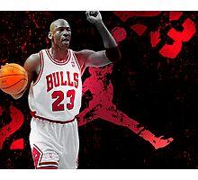Jordan in Carmine Photographic Print