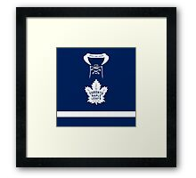 Toronto Maple Leafs Home Jersey Framed Print