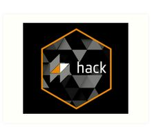 hack programming language hexagon sticker Art Print
