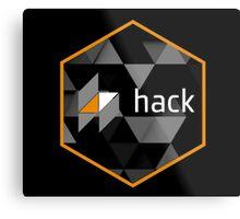hack programming language hexagon sticker Metal Print