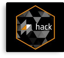 hack programming language hexagon sticker Canvas Print