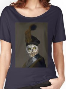 The Owl General - Photographic Composite Women's Relaxed Fit T-Shirt