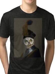 The Owl General - Photographic Composite Tri-blend T-Shirt