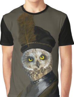 The Owl General - Photographic Composite Graphic T-Shirt