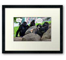 The Gossip at the Zoo Framed Print