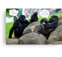 The Gossip at the Zoo Canvas Print