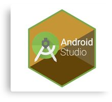 android studio programming  hexagon sticker Canvas Print