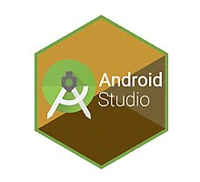 android studio programming  hexagon sticker Photographic Print