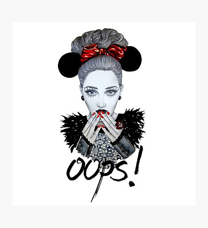 Oops! Photographic Print