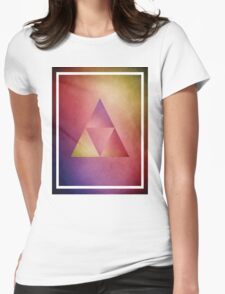 Rainbow Triangle Triforce Womens Fitted T-Shirt