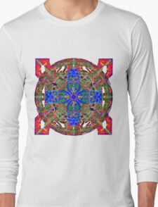Blue On Fire And Green Long Sleeve T-Shirt