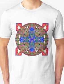 Blue On Fire And Green Unisex T-Shirt