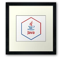 java programming language hexagonal sticker Framed Print