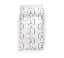 java programming language hexagonal sticker Duvet Cover