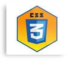 css 3  programming language hexagonal sticker Metal Print