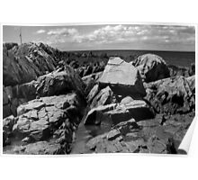 Rocky coast of Maine Poster