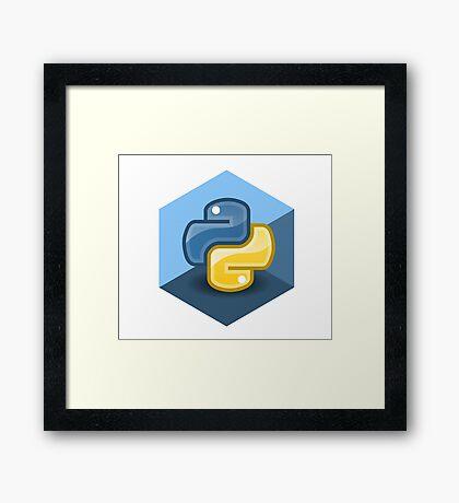 python programming language hexagonal sticker Framed Print